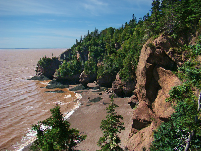 Hopewell Rocks in Canada